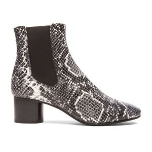 Isabel Marant Python Printed Leather Danae Boots